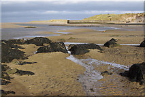 NU1535 : Old pier, Budle Bay by Ian Taylor