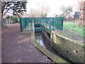 TQ2467 : Water level monitoring station, Morden Park by Malc McDonald