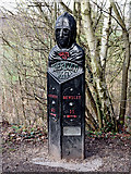SO7483 : Mercian Way milepost near Highley in Shropshire by Roger  Kidd