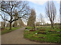 TQ2267 : Morden cemetery by Malc McDonald