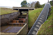 NU0702 : Spillway and Archimedean screw, Cragside by Ian Taylor