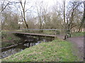 TQ2066 : Bridge over Hogsmill River, Old Malden by Malc McDonald