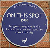 TA0733 : Alternative Heritage Blue Plaque by Ian S