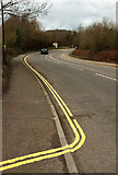 SX9066 : New double yellow lines, Barton Hill Way by Derek Harper