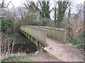 TQ2067 : Bridge over the Hogsmill River, Old Malden by Malc McDonald