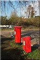 SX8671 : Postbox and dog waste bin, Brunel Industrial Estate by Derek Harper