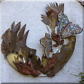 SP0485 : Wall ornament, Birmingham Botanical Gardens by Rudi Winter