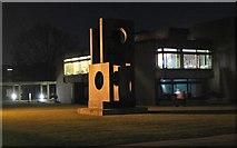TL4359 : Hepworth sculpture, Churchill College Cambridge by Jim Barton