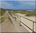 TG5213 : Sand dunes at the Caister Holiday Park by Mat Fascione