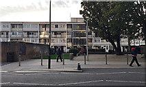 TQ3481 : Morris Street maisonettes seen from Watney Street, Shadwell by Robin Stott