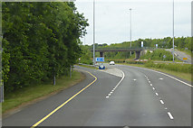 N8308 : Northbound M9, Exit at Junction 2 (Kilcullen) by David Dixon