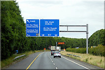 N8517 : Overhead Signs, M7 near Newbridge by David Dixon