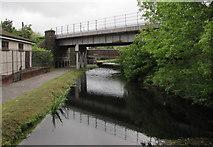 SS7597 : Neath Canal railway bridge by Jaggery