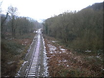 SK3155 : Railway north west of Whatstandwell by Richard Vince