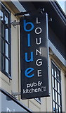 NZ6025 : Sign for the Blue Lounge, Redcar by JThomas