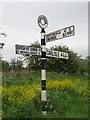 NY3256 : Old Direction Sign - Signpost by Milestone Society
