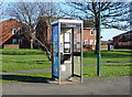 NZ5823 : Telephone box on Maxwell Place, Dormanstown, Redcar by JThomas