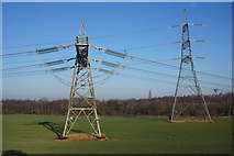SE4712 : Pylons north of North Elmsall by Ian S