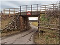 NH7086 : Low Railway Bridge at Ardmore Road by valenta