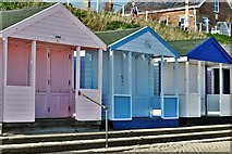 TM5176 : Southwold Promenade: Beach huts by Michael Garlick