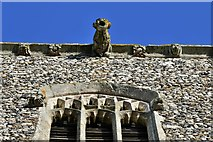 TM5286 : Kessingland, St. Edmund's Church: The south face of the c15th tower by Michael Garlick