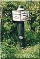 SJ9230 : Old milemarker by Milestone Society