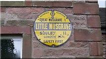NY7613 : Old Circular, village name on black band, no MU symbol or name, 1923 by Milestone Society