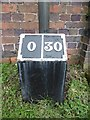 SP3688 : Old milemarker by Milestone Society