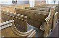 TF0639 : Box pews, Aswarby church by Julian P Guffogg