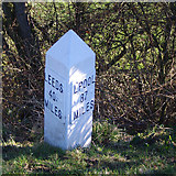 SD8948 : Milepost, Leeds and Liverpool Canal by Ian Taylor