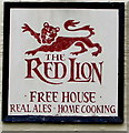 SO2320 : Red Lion nameboard, Llanbedr, Powys by Jaggery