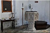 TM5286 : Kessingland, St. Edmund's Church: The font 3 by Michael Garlick