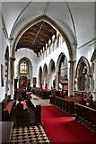 TL8866 : Great Barton: Holy Innocents Church: The chancel and nave beyond by Michael Garlick