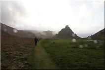SS7049 : The Valley of Rocks in Storm Freya by Bill Boaden