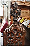 TL8866 : Great Barton: Holy Innocents Church: Finely carved poppyhead 22 by Michael Garlick