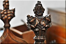 TL8866 : Great Barton: Holy Innocents Church: Finely carved poppyhead 24 by Michael Garlick