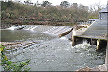 ST1380 : Radyr Weir, fish ladder and hydroelectric turbine by David Martin