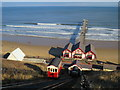 NZ6621 : Saltburn cliff tramway and pier by Malc McDonald