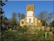 TF3093 : The Church of St Andrew and a part of its burial ground at Utterby by Peter Wood