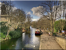 SE1338 : Leeds and Liverpool Canal at Saltaire by David Dixon