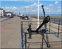 NZ6025 : Anchor along Redcar seafront by Mat Fascione
