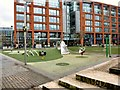 SJ8498 : Children's play area at Piccadilly Gardens by Gerald England