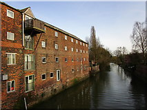 SE9907 : The Old River Ancholme above County Bridge by Jonathan Thacker
