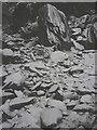 NY4407 : Snowy spoil, Steel Rigg slate quarry by Karl and Ali