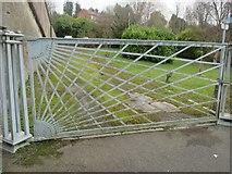 SH5571 : A Thomas Telford sunburst gate, Treborth by Meirion