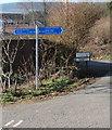 SO0504 : Taff Trail signpost, Graig Road, Abercanaid by Jaggery