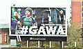 "J3474 : ""GAWA"" poster, Belfast (March 2019) by Albert Bridge"