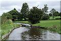 SJ9353 : Site of former canal bridge near Endon, Staffordshire by Roger  Kidd