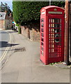 SO9723 : Grade II listed red phonebox, High Street, Prestbury by Jaggery