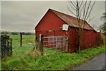 H6058 : Corrugated iron shed, Tullylinton by Kenneth  Allen